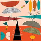 Mid-Century Modern Abstract #59 by Gail Gabel, LLC