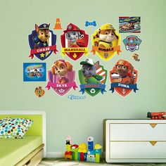 PAW Patrol Shields Collection Fathead Wall Decal