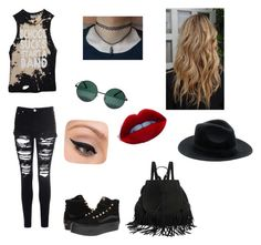 """""""Inspired by Jessie Paege"""" by hjsheppard ❤ liked on Polyvore featuring Vans, YHF, Glamorous and LORAC"""