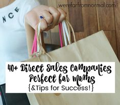Direct Sales Companies Perfect for Moms! {& Tips for Success!} Far From Normal Direct Sales Companies, Direct Sales Tips, Direct Marketing, Direct Selling, Direct Sales Party, Rodan And Fields Consultant, Home Based Business, Craft Business, Business Ideas
