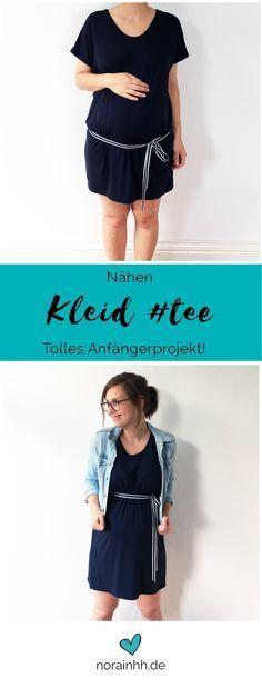 Yeah! Ein neues Schnittmuster für ein Kleid von FashionTamTam - schnell genäht, ideales Nähprojekt für Anfänger! | norainhh.de #nähen #schwanger #umstandskleid #umstandsmode #babybauch #diyfashion