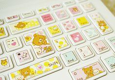 rilakkuma stickers sticker keyboard cute kawaii japanese cartoon