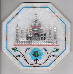 Parchin Kari Marble Inlay Art Handmade Indian 5″ Floral Taj Mahal Home Decor Art -- Awesome products selected by Anna Churchill