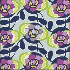 Fabric... Purple Blooming Trellis Spellbound by Art Gallery