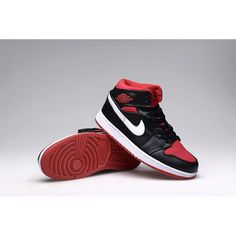 f6bb46dc45510b Authentic Air Jordan 1 Retro black Varsity Red-white Men s Shoe