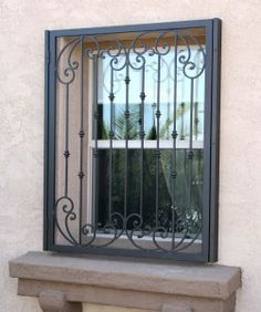 """Olson Wrought Iron Security Doors and Security Window Guards! """"Another Awesome Job by Olson Iron"""" Wrought Iron Security Doors, Door Design, Iron Gate Design, Windows, Windows And Doors, Window Grill Design Modern, Window Design, Iron Security Doors, Window Security"""