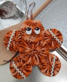 Gingerbread Yo Yo Ornament Gingerbread Cookie GB14