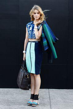 Shopping Dress for less faldas lápiz: Azul   Galería de fotos 8 de 39   Vogue