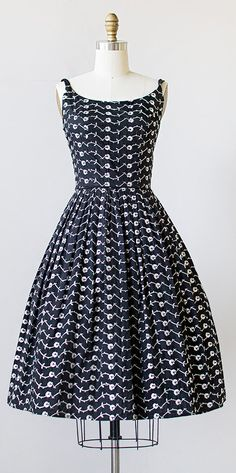 vintage 1950s dress | 50s sundress #vintage #1950s