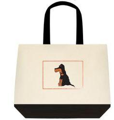 Canvas Tote Bag Gordon Setter Autumn by ArtByAnneManera on Etsy, $26.99