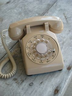 rotary phone. Ours was peach, grandparents had green. What color did you have?