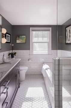 Transitional Bathroom Remodel - TreHus Architects + Interior Designers + Builders