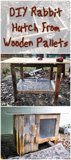 DIY Rabbit Hutch From Wooden Pallets - If you want to build an attractive, yet affordable, Rabbit Hutch then pallets are the way to go. They are generally strong, hard wood and best of all free (ask a local business if you take theirs off their hands) or at the most a few dollars per pallet.
