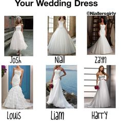 """""""Your Wedding Dress"""" by niallersgirly on Polyvore Thats exactly y I love love love Nialler mong millions of other reasons of course! <3"""