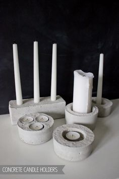 Concrete Candle Holders by Nimi Designs