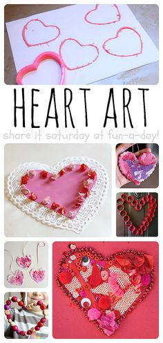20 Heart Art Activities to try with the kids!
