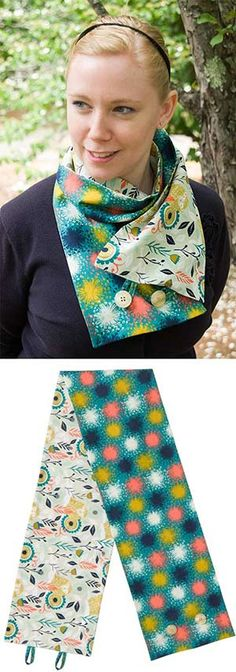 We have 11 exclusive Cotton+ Steel kits on the Keepsake Quilting website!  The Simple Scarf Kit!