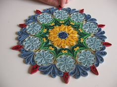 Mandala quilled paper.  Quilling.