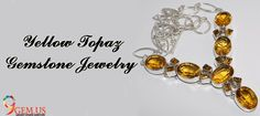 huge collection of Yellow topaz Gemstone Jewelry