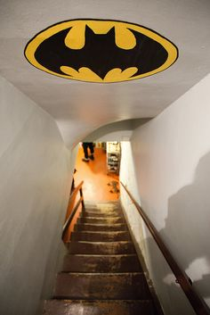 Cool for basement or ceiling coming down the stairs. @Angie Ducklow McKarns - you totally need this in the Blair Witch basement!!  Gregg's bat cave!!
