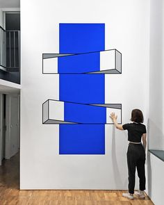 New-York based artist Aakash Nihalani creates playful optical illusion tape art installations that trick the eye and blur dimensions. Tape Art, Illusion 3d, Illusion Kunst, Optical Illusion Art, Amazing Optical Illusions, Art Optical, Illusions Mind, Color Illusions, Grid Design