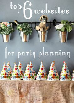 Top 6 websites for party planning  See Oriental Trading Company and Save on Crafts.