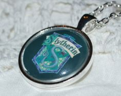 Harry Potter Inspired Slytherin House Necklace