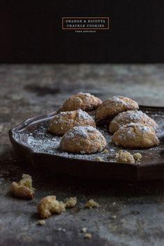 Orange And Ricotta Crackle Cookies