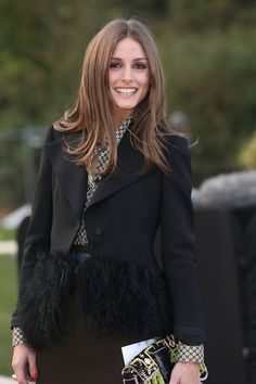Olivia Palermo At Burberry Prorsum