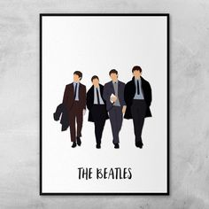 The Beatles Poster Minimal Artwork by ComedyQuotes on Etsy
