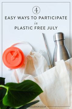 Small Shop: A Zero Waste Online Shop — 4 Easy Ways to Participate in Plastic Free July Plastic Free July, Use Of Plastic, Plastic Waste, Furoshiki, Plastic Alternatives, Homemade Cleaning Products, Environmental Health, Party Cups, Sustainable Living