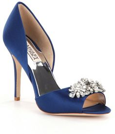 Shop for Badgley Mischka Giana Satin Jeweled d´Orsay Pumps at Dillards.com. Visit Dillards.com to find clothing, accessories, shoes, cosmetics & more. The Style of Your Life.