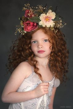 The Sofia Flower Crown - Children Hair Styles Beautiful Little Girls, Beautiful Children, Beautiful Babies, Children Photography, Fine Art Photography, Portrait Photography, Flower Headpiece, Child Models, Belle Photo