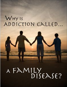 "Addiction: A Family Disease. ""There is a word for behavior that enables an addict and it is called co-dependence."" This post is especially good for those who are learning about the disease of addiction for the first time. Please share with someone who would benefit from reading Kathy's words! #Addiction, #Drug Addiction, #Alcoholism"