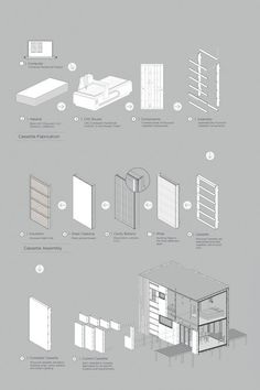 Cross laminated timber (CLT) house panels & prefabricated cassette panel cladding system, designed by Ben Sutherland of Makers of Architecture Timber Architecture, Architecture Concept Diagram, Architecture People, Container Architecture, Architecture Drawings, Architecture Portfolio, Architecture Details, Autocad, Planer Layout