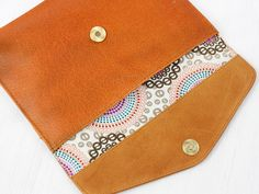 Leather Envelope Clutch Bag from Scaramanga's original and classic leather bag collections