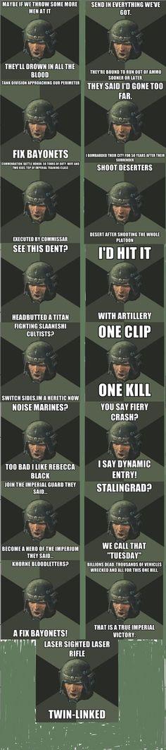 Imperial Guard, IG, AM, 40k memes