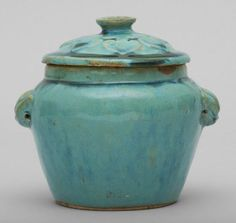 A Turquoise Glazed Ming Jar and Cover.PhotoUppsala Auktionskammare