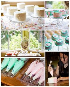 cake decorating birthday party to go with diy chef hats