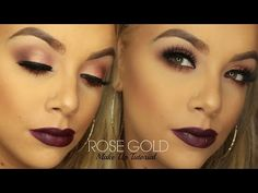 Rose Gold Make up Tutorial | Urban Decay Vice 4 Palette - YouTube