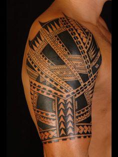 Samoan Sleeve Tattoo Design Shane