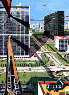 'The human voyage - the city of the future, quiet, clean, airy and easy to use'
