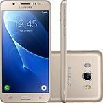 "Smartphone Samsung Galaxy J5 Metal Dual Chip Android 6.0 Tela 5.2"" 16GB 4G Câmera 13MP - Dourado"