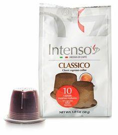 Intenso Classico Capsules 10 count (10 x 5 grams) for nespresso brewers - http://hotcoffeepods.com/intenso-classico-capsules-10-count-10-x-5-grams-for-nespresso-brewers/