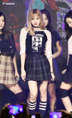 Your source of news on YG's current biggest girl group, BLACKPINK! Blackpink Outfits, Stage Outfits, Fashion Outfits, Blackpink Lisa, Lisa Blackpink Wallpaper, Black Pink Kpop, Blackpink Fashion, Pretty Asian, Kpop Girls