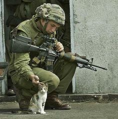 you know you have AD/HD when you stop in the middle of a fire fight to pet a cat.