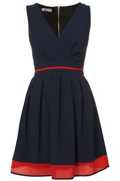 super fun navy/red dress!...