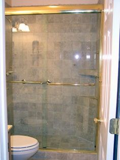 Glass shower stall doors