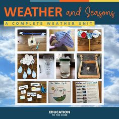 This comprehensive weather and seasons unit has everything you will need to teach this science topic for a month or more. You will find literacy activities, math practice, writing prompts, and of course science experiments. Have fun with your students through all of the weather and season activities (over 250 pages) you will find in this bundle. Seasons Activities, Vocabulary Activities, Hands On Activities, Kindergarten Activities, Science Activities, Writing Activities, Kindergarten Classroom, Science Experiments, Weather Unit