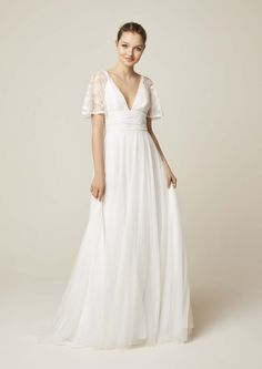 Style 957 - jesus peiro heritage collection 2019 -celebrating our anniversary robe de mariee Belle Angel, Tulle Dress, One Shoulder Wedding Dress, Wedding Gowns, White Dress, Bride, Formal Dresses, Celebrities, Collection